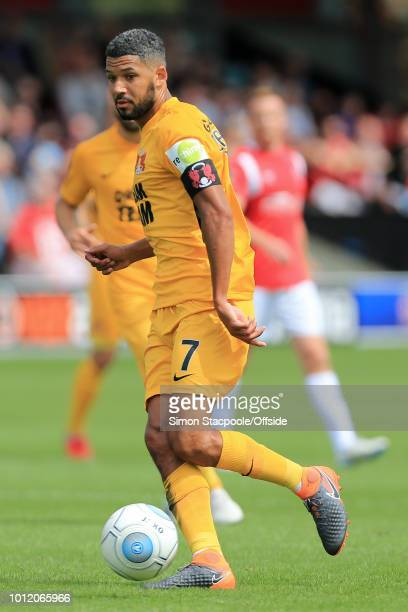 Jobi McAnuff of Orient in action during the Vanarama National League match between Salford City and Leyton Orient at Moor Lane on August 4 2018 in...