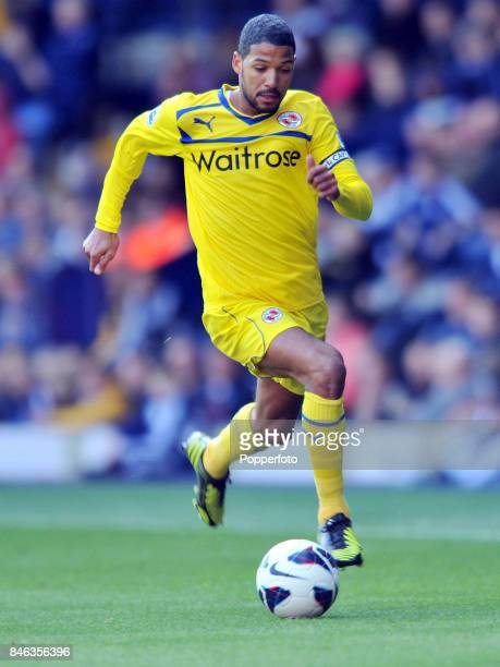 Jobi McAnuff of Reading in action during the Barclays Premier League match between West Bromwich Albion and Reading at The Hawthorns on September 22...