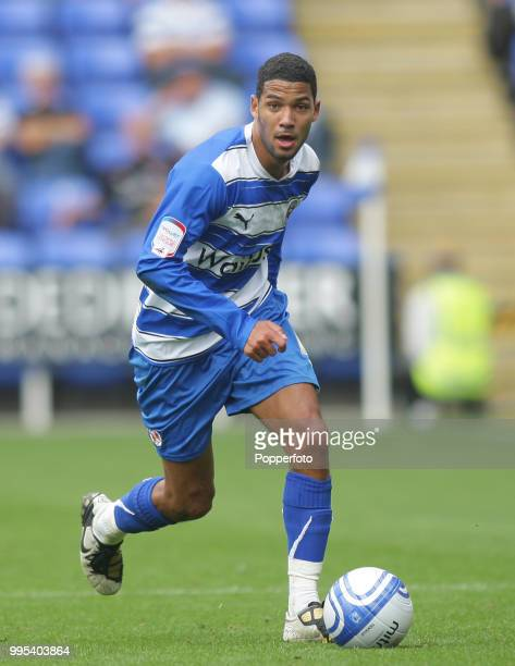 Jobi McAnuff of Reading in action during the Npower Championship match between Reading and Scunthorpe United at the Madejski Stadium on August 7 2010...