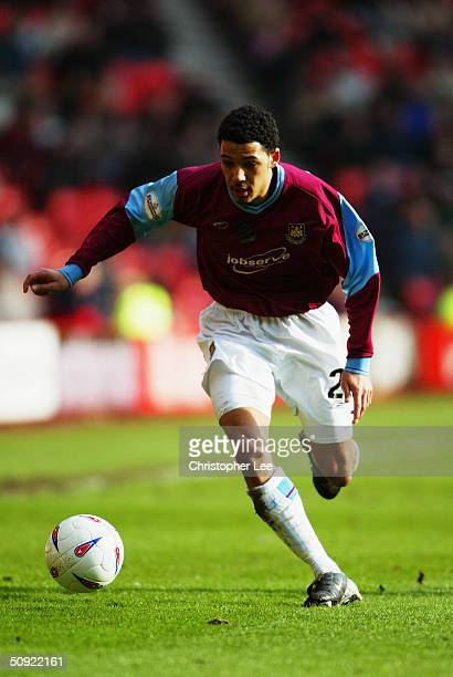 Jobi McAnuff of West Ham United during the Nationwide Division One match between Sunderland and West Ham United at The Stadium of Light on March 13...