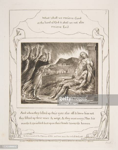Job's Comforters, from Illustrations of the Book of Job, 1825-26. Artist William Blake.