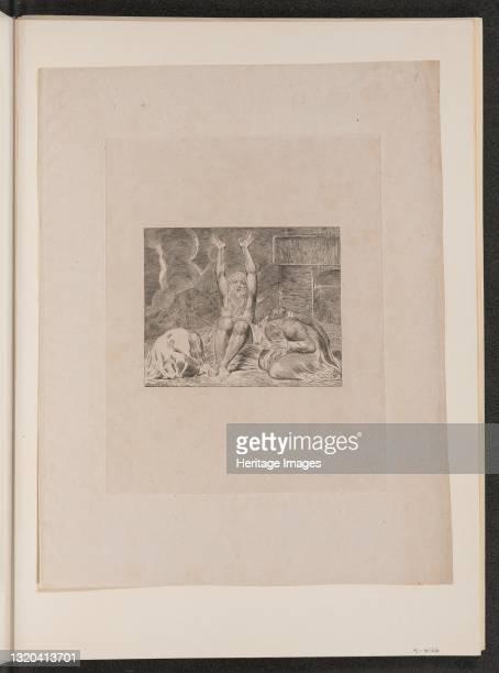 Job's Despair, 1825. Artist William Blake.