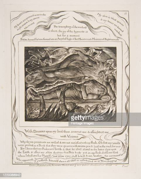 Job's Evil Dreams from Illustrations of the Book of Job 182526 Artist William Blake