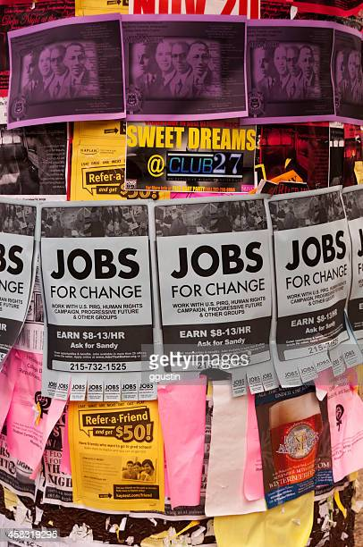 jobs for change - bulletin board flyer stock pictures, royalty-free photos & images
