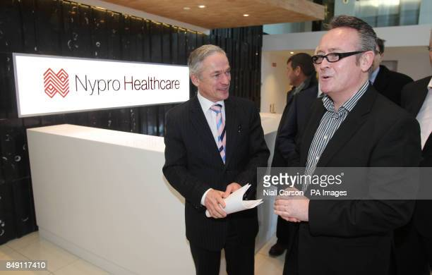 Jobs Minister Richard Bruton and James O'Gorman from Nypro Healthcare at the announcement 100 hitech jobs have been created at the multinational...
