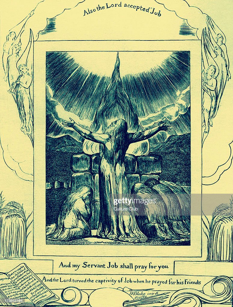 Job's Prayer Accepted by William Blake, from the