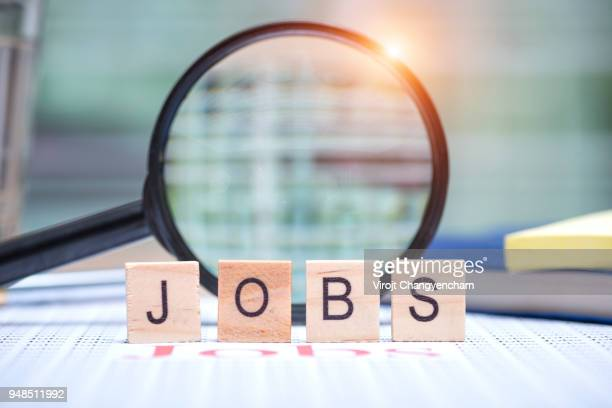 jobs search concept - werkloosheid stockfoto's en -beelden