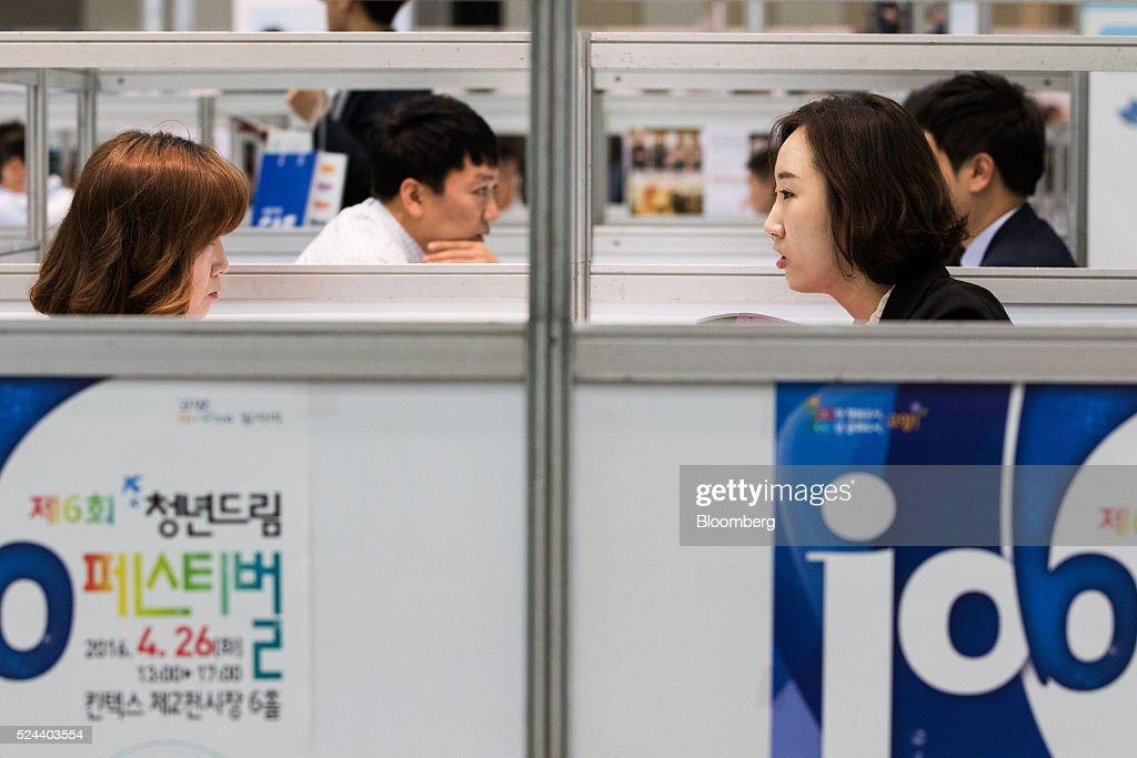 inside a job fair as south korea releases preliminary gdp figures