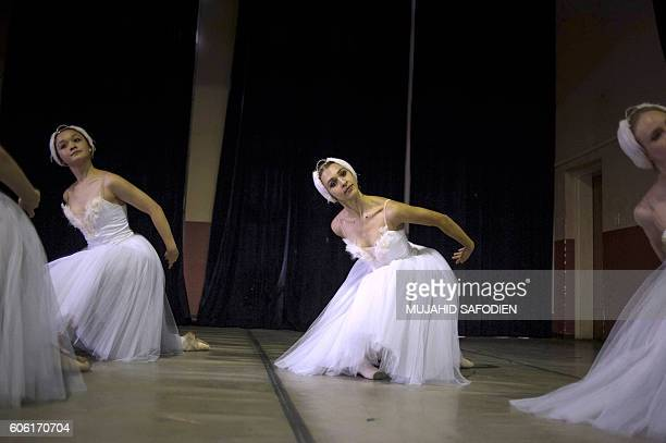 Joburg Ballet dancers perform the Swan Lake during a Dance Event organized by the Joburg Ballet to mark the upcoming National Heritage day at the...