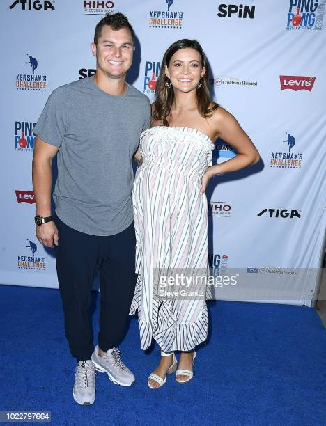 Joc Pederson arrives at the 6th Annual PingPong4Purpose at Dodger Stadium on August 23 2018 in Los Angeles California
