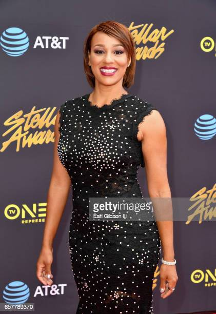 Jocelyn Adams of State Farm arrives at the 32nd annual Stellar Gospel Music Awards at the Orleans Arena on March 25 2017 in Las Vegas Nevada