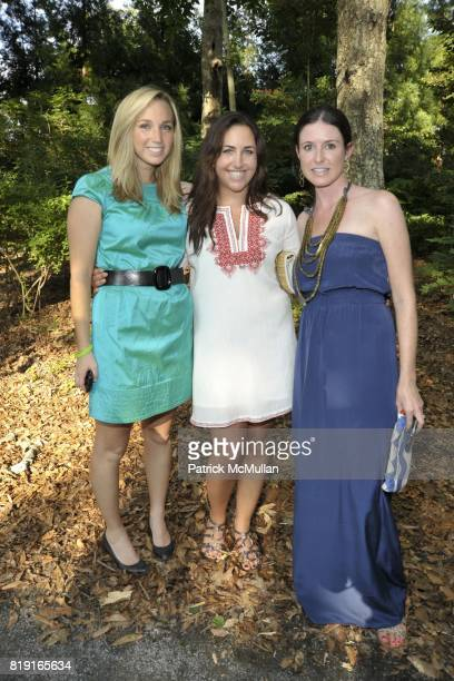 Jocelyn Avery Alexis Blais and Lauren Thayer attend Paradiso The 17th Annual Watermill Summer Benefit 2010 at Watermill Center on July 24 2010