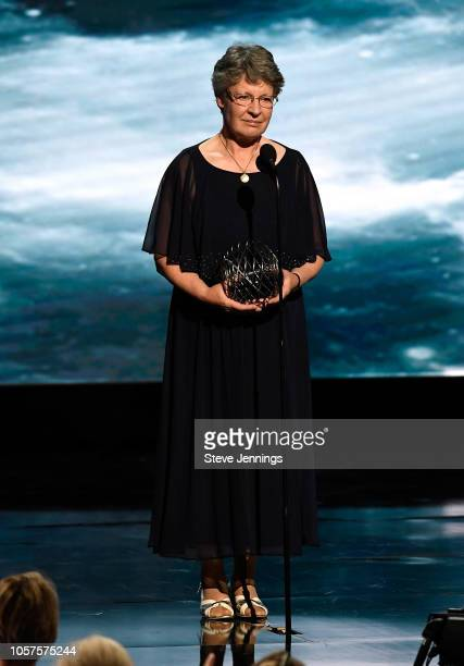 Jocelyn Bell Burnell onstage at the 2019 Breakthrough Prize at NASA Ames Research Center on November 4 2018 in Mountain View California