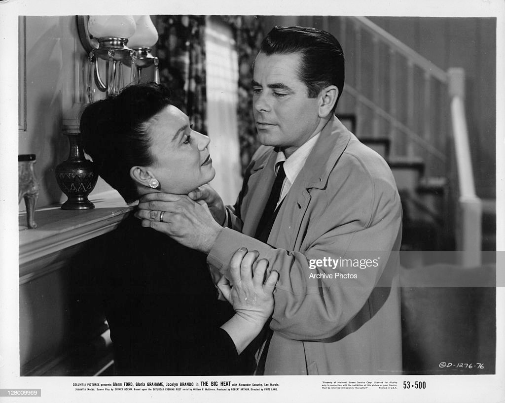 Jocelyn Brando is grabbed by neck by Glenn Ford in a scene from the... News  Photo - Getty Images