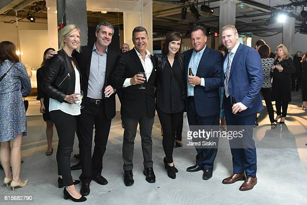 Jocelyn Corrigan Peter Gaslow Jim Scelter Erica Cain John Golds and Steve Grillo attend West Elm Headquarters Party at 55 Water Street on October 18...