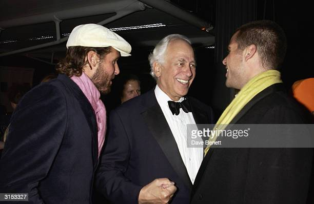 Jocelyn De Rothchild and his sons David and Anthony attend the Old Vic Theatre Fund Raising Gala Party at Old Billingsgate Market on February 6 2003...
