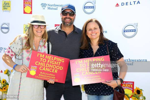Jocelyn Hayes Jayme Lemons and Evan Hayes attend 10th Annual LA Loves Alex's Lemonade at UCLA Royce Quad on September 14 2019 in Los Angeles...