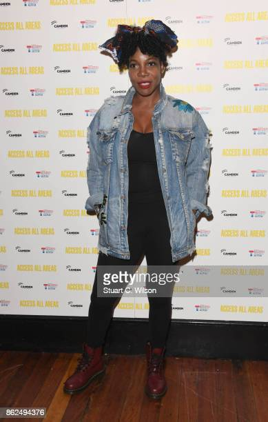 Jocelyn Jee Esien arrives at the 'Access All Areas' VIP gala screening held at Proud Camden on October 17, 2017 in London, England.