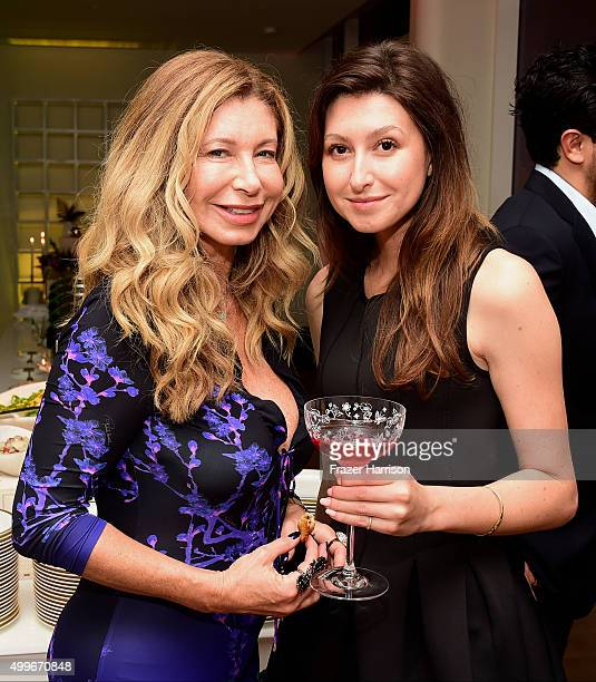 Jocelyn Katz and Christina Stockton attend VNH Gallery Dinner With Victoire de Pourtales At L'Eden By PerrierJouet at the Faena Hotel on December 2...
