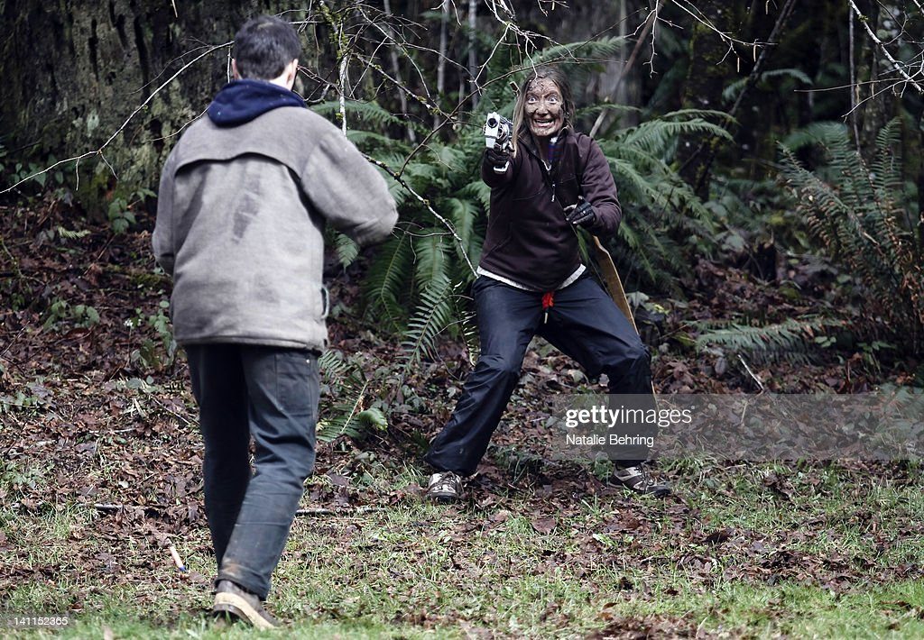 """Zombie """"Survival Class"""" Held In Oregon Forest : News Photo"""