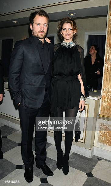 Jocelyn Quivrin Alice Taglioni attend the Sidaction Diner during Paris Fashion Week SpringSummer 2008 on at Pavillon d'Armenonville on January 24...