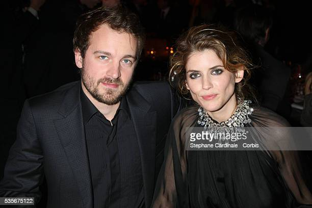 Jocelyn Quivrin and Alice Taglioni attend the 2008 Sidaction Gala Dinner in Paris