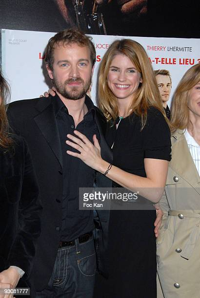Jocelyn Quivrin and Alice Taglioni attend the Notre Univers Impitoyable Premiere at the UGC Cinema des Halles on February 5 2008 in Paris France
