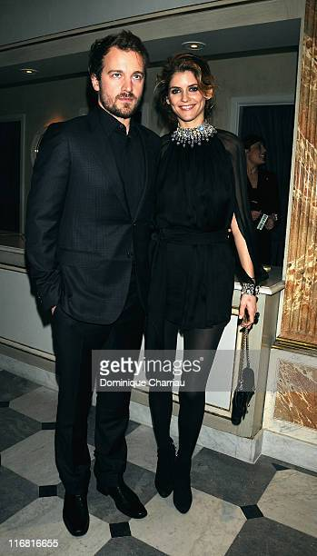 Jocelyn Quivrin and Alice Taglioni attend the Sidaction Diner during Paris Fashion Week SpringSummer 2008 on at Pavillon d'Armenonville on January 24...