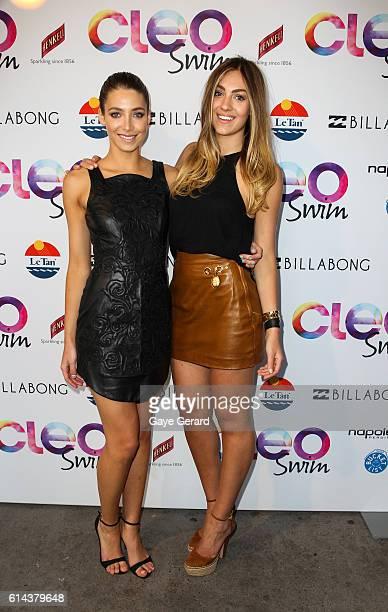 Jocelyn Savage and Yasmin Baiodan poses at the 2013 CLEO Swim Party at The Bucket List on November 26 2013 in Sydney Australia