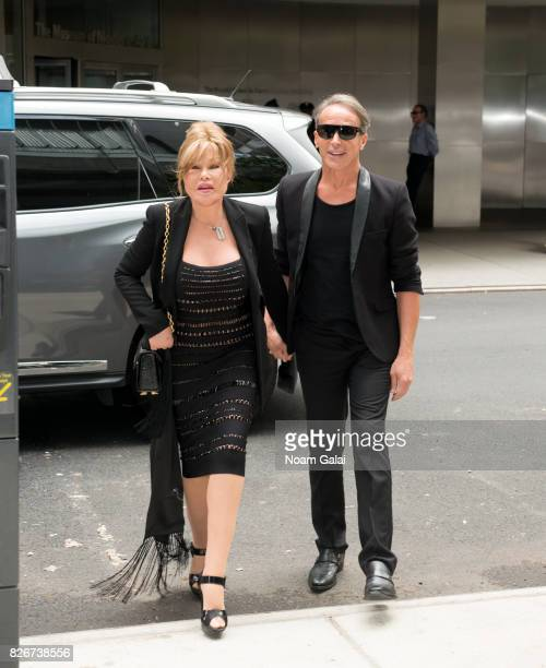 Jocelyn Wildenstein and Lloyd Klein are seen outside the Baccarat Hotel on August 5 2017 in New York City