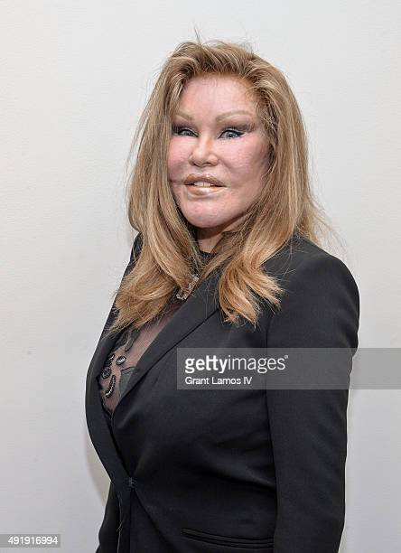 Jocelyn Wildenstein attends the JeanYves Klein Chimeras Exhibition at Gallery Molly Krom on October 8 2015 in New York City