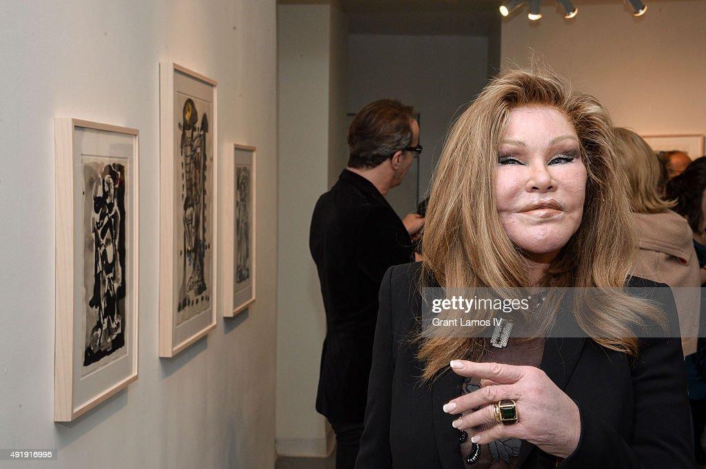 Jocelyne Wildenstein Visits The Jean-Yves Klein : Chimeras Exhibition : News Photo