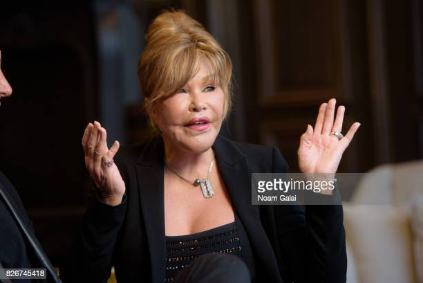 Jocelyn Wildenstein discusses her engagement to Lloyd Klein at Baccarat Hotel on August 5 2017 in New York City