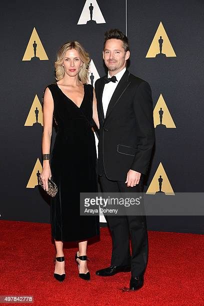 Jocelyne Cooper and Scott Cooper attend the Academy of Motion Picture Arts and Sciences' 7th Annual Governors Awards at The Ray Dolby Ballroom at...