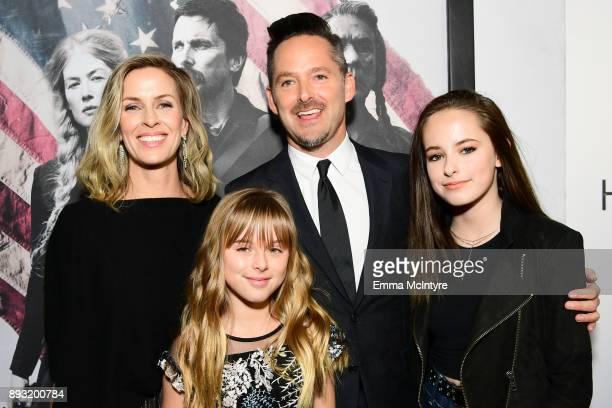 Jocelyne Cooper Stella Cooper Scott Cooper and Ava Cooper attend the premiere of Entertainment Studios Motion Pictures' Hostiles at Samuel Goldwyn...