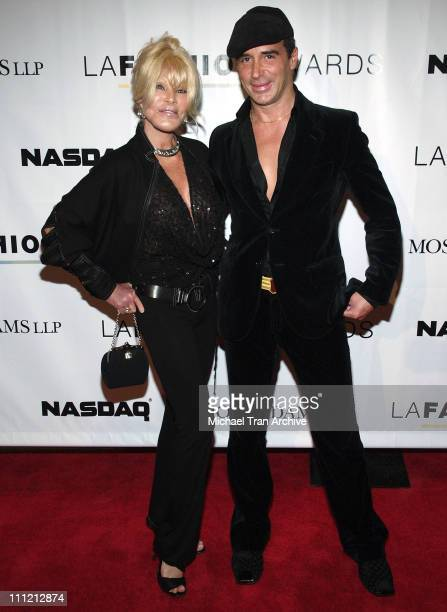 Jocelyne Wildenstein and Lloyd Klein during 2005 LA Fashion Awards Arrivals at Orpheum Theatre in Los Angeles California United States