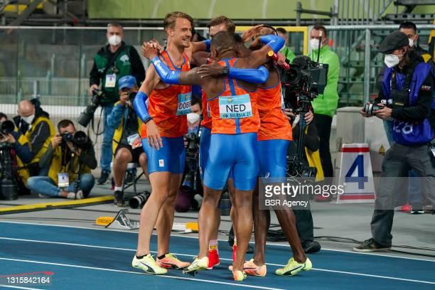 Jochem Dobber of The Netherlands, Liemarvin Bonevacia of The Netherlands, Ramsey Angela of The Netherlands and Tony van Diepen of The Netherlands...