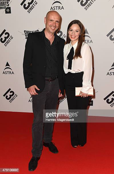 Jochen Alexander Freydank and Mina Tander attend the Shocking Shorts Award 2015 during the Munich Film Festival on June 30 2015 in Munich Germany