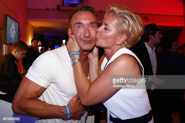 Jochen Bendel and Claudia Effenberg attend the Shocking Shorts Award 2014 at Amerika Haus on July 3 2014 in Munich Germany