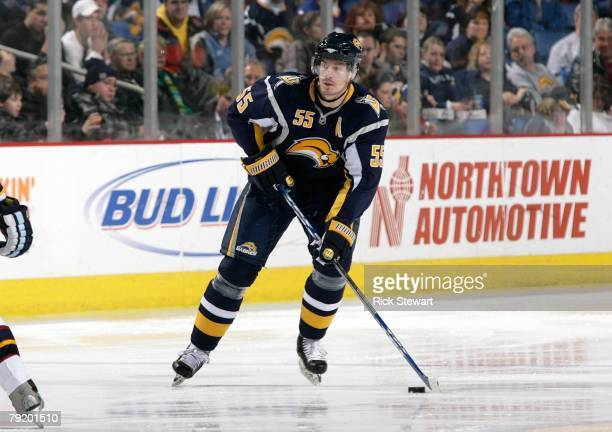 Jochen Hecht of the Buffalo Sabres skates against the Atlanta Thrashers during their NHL game on January 18, 2008 at HSBC Arena in Buffalo, New York....