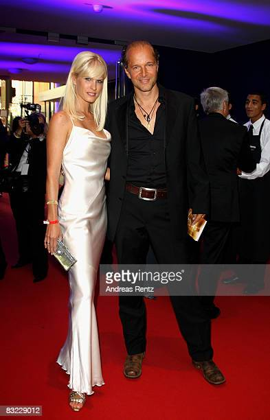 Jochen Horst and Tina Ciamperla arrive for the German TV Award 2008 at the Coloneum on October 11 2008 in Cologne Germany