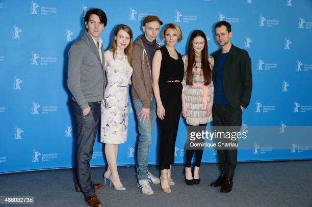 Jochen Laube Anna Brueggemann Dietrich Brueggemann Franziska Weisz Lea van Acken and Florian Stetter attend 'Stations of the Cross' photocall during...