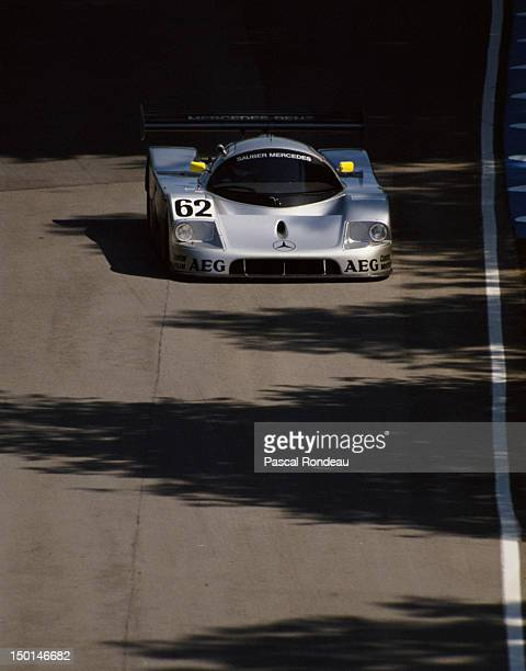 Jochen Mass of Germany drives the Team Sauber-Mercedes C9/88 during the FIA World Sportscar Prototype Championship 1000 kms of Brands Hatch on 23rd...