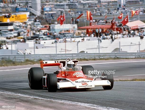 Jochen Mass racing a McLarenCosworth M23 Spanish Grand Prix Jarama Spain 1977 Mass finished fourth in this race Although Jochen Mass drove in Formula...