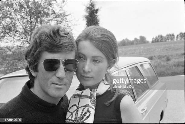 Jochen Rindt Austrian race driver with his wife Nina 1969 Jochen Rindt Austrian race driver with his wife Nina 1969
