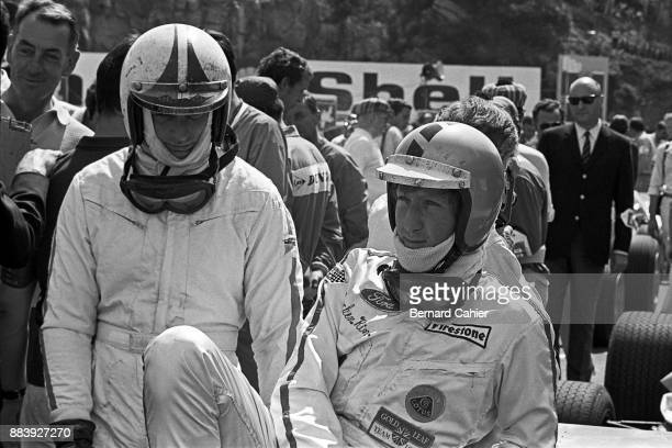 Jochen Rindt Chris Amon Grand Prix of France Charade Circuit 06 July 1969 Chris Amon and Jochen Rindt on the starting grid of the 1969 French Grand...