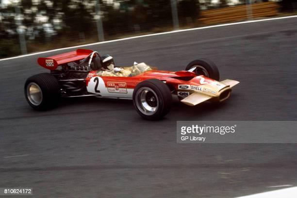 1968 Jochen Rindt driving a Lotus 49B at Watkins Glen USA