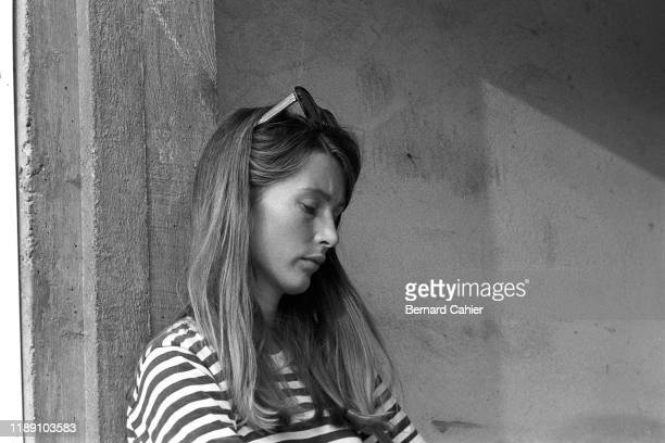 Jochen Rindt Grand Prix of Italy Autodromo Nazionale Monza 06 September 1970 Nina Rindt wife of Jochen Rindt during practice for the Italian Grand...