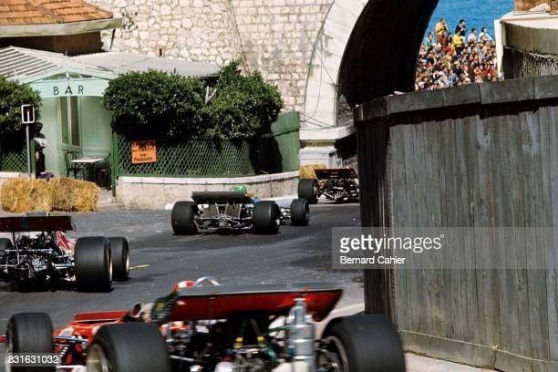 Jochen Rindt Henri Pescarolo Piers Courage Jo Siffert LotusFord 49B Matra MS120 De TomasoFord 505/38 Grand Prix of Monaco Monaco 10 May 1970