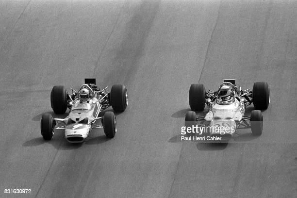 Jochen Rindt Jackie Stewart LotusFord 72C MatraFord MS80 Grand Prix of Italy Monza 07 September 1969